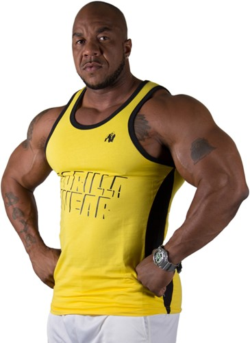 Gorilla Wear Stretch Tank Top Yellow-2