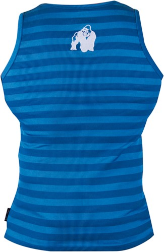 Gorilla Wear Stripe Stretch Tank Top - Blauw -2