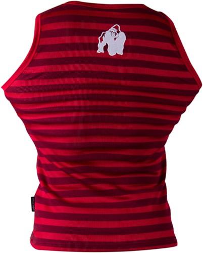 Gorilla Wear Stripe Stretch Tank Top Red