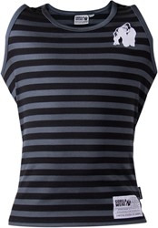 Gorilla Wear Stripe Stretch Tank Top Black