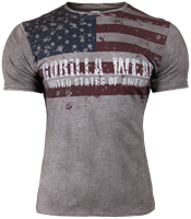 Gorilla Wear USA Flag T-Shirt - Grijs