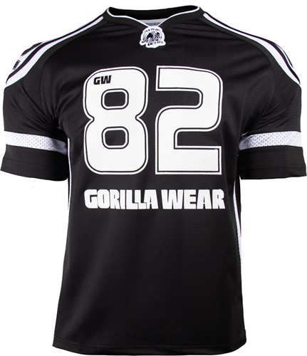 Gorilla Wear GW Athlete T-Shirt Zwart/Wit