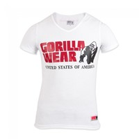 Gorilla Wear Utah V-Neck T-Shirt - White