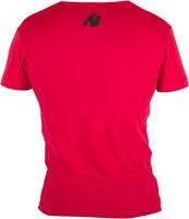 Gorilla Wear Essential V-Neck T-Shirt - Red-3
