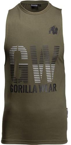 Gorilla Wear Dakota Mouwloos T-Shirt - Legergroen