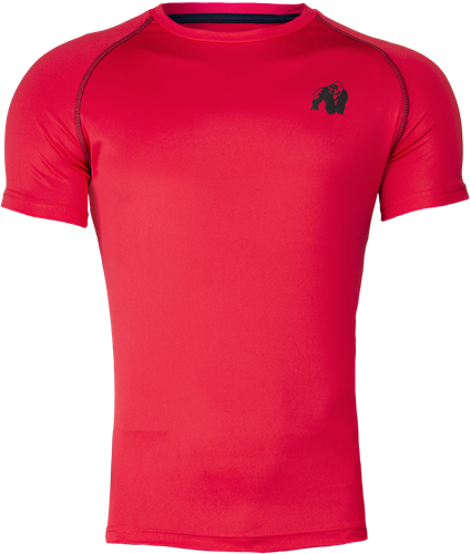 Gorilla Wear Performance T-Shirt - Rood/Zwart