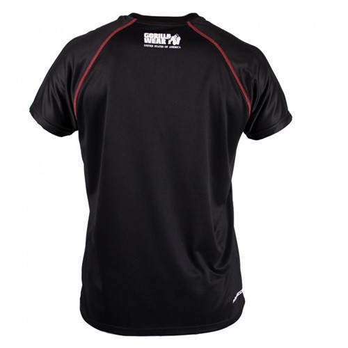 Gorilla Wear Performance T-shirt Black/red-2