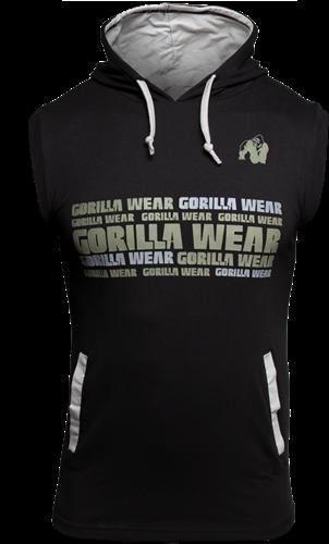 Gorilla Wear Melbourne Sleeveless Hooded T-shirt - Zwart