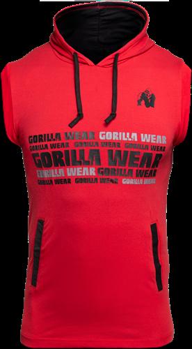 Gorilla Wear Melbourne Sleeveless Hooded T-shirt - Rood