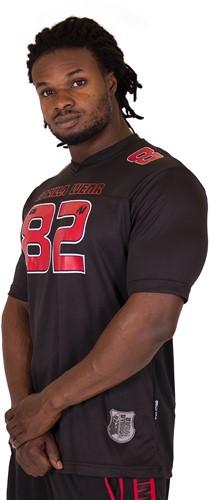 Gorilla Wear Fresno T-Shirt - Black/Red