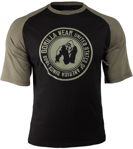 Gorilla Wear Texas T-shirt - Zwart/Legergroen