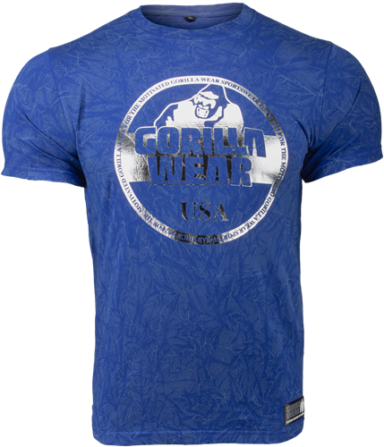 Gorilla Wear Rocklin T-shirt - Royal Blauw