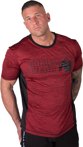 Gorilla Wear Austin T-shirt - Red/Black