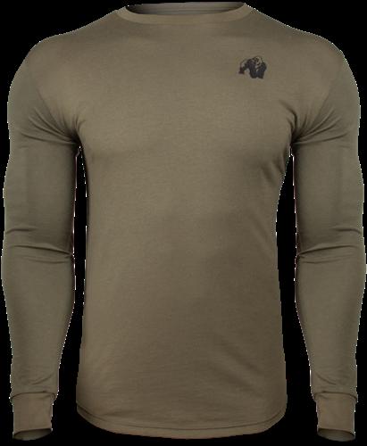 Gorilla Wear Williams Longsleeve - Legergroen - 4XL