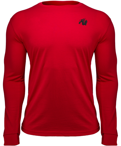 Gorilla Wear Williams Longsleeve - Rood - 5XL