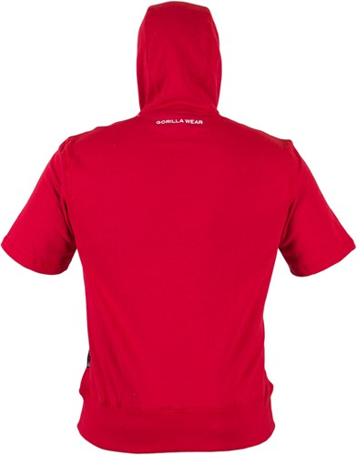 Gorilla Wear Boston Short Sleeve Hoodie - Red-3