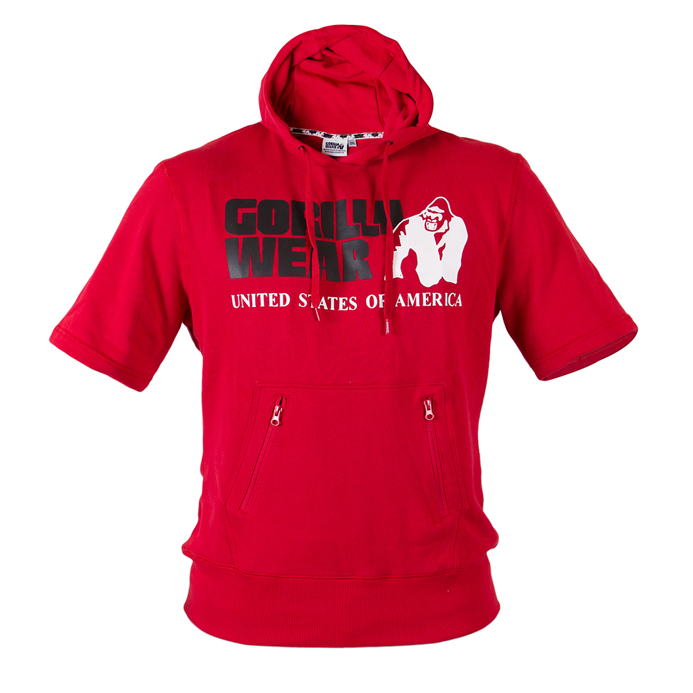 Gorilla Wear Boston Short Sleeve Hoodie Red-M