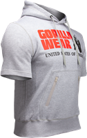Gorilla Wear Boston Short Sleeve Hoodie - Grey-2