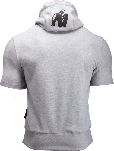 Gorilla Wear Boston Short Sleeve Hoodie - Grey-3
