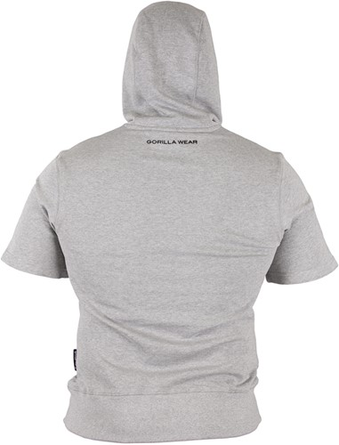 Gorilla Wear Boston Short Sleeve Hoodie - Grey-3
