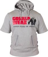 Gorilla Wear Boston Short Sleeve Hoodie - Grey