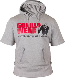 Gorilla Wear Boston Short Sleeve Hoodie - Grey