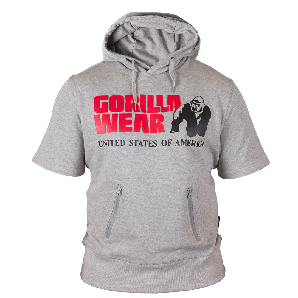 Gorilla Wear Boston Short Sleeve Hoodie Grey-XXL