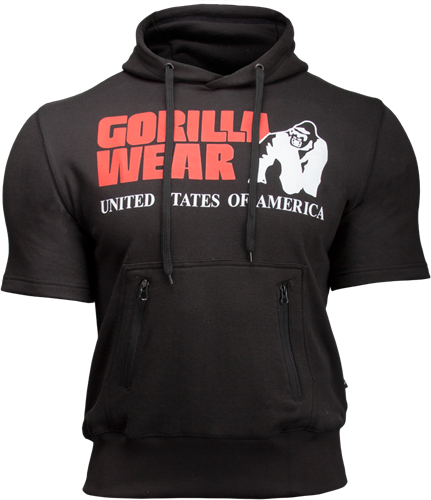 Gorilla Wear Boston Short Sleeve Hoodie - Black