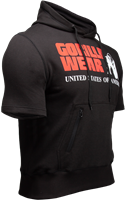 Gorilla Wear Boston Short Sleeve Hoodie - Black-2