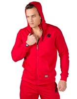 Gorilla Wear Classic Zipped Hoodie Red
