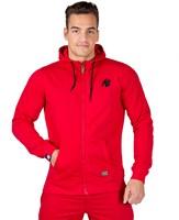 Gorilla Wear Classic Zipped Hoodie Red