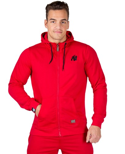 Gorilla Wear Classic Zipped Hoodie Red-2