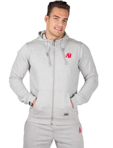 Gorilla Wear Classic Zipped Hoodie Grey