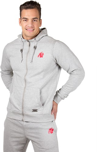 Gorilla Wear Classic Zipped Hoodie Grey-2