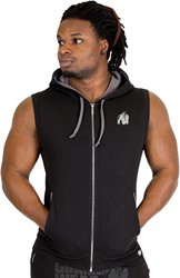 Gorilla Wear Springfield Sleeveless Zipped Hoodie Black