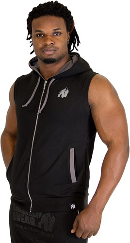 Gorilla Wear Springfield Sleeveless Zipped Hoodie Black-3