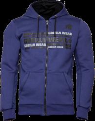 Gorilla Wear Bowie Mesh Zipped Hoodie - Navy Blue