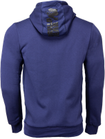 Gorilla Wear Bowie Mesh Zipped Hoodie - Navy Blue-2