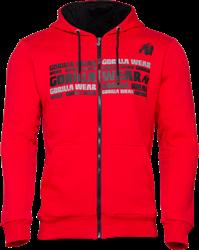 Gorilla Wear Bowie Mesh Zipped Hoodie - Red