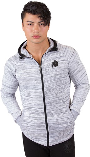 Gorilla Wear Keno Zipped Hoodie - White/Black-2