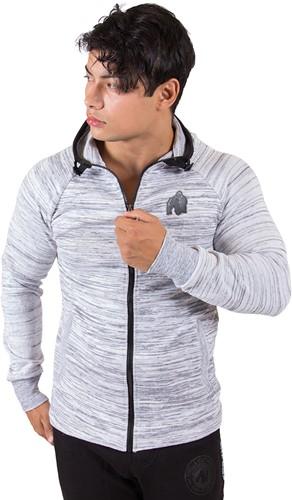 gorilla wear keno zipped hoodie white black