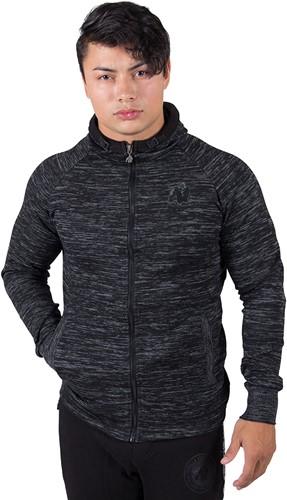 gorilla wear keno zipped hoodie black gray model 1