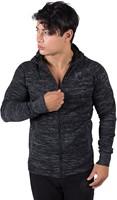 gorilla wear keno zipped hoodie black gray model 2