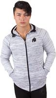 gorilla wear keno zipped hoodie white black model 1