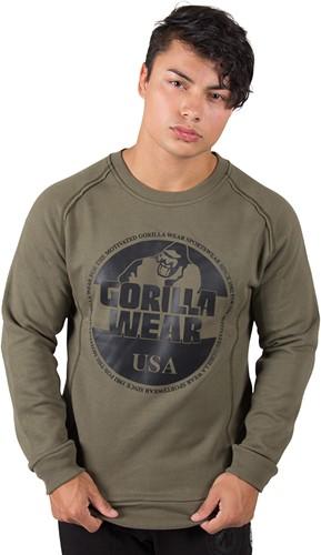 Gorilla Wear Bloomington Crewneck Sweatshirt - Army Green