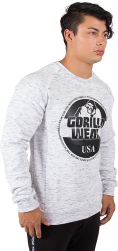 Gorilla Wear Bloomington Crewneck Sweatshirt - Mixed Gray-3