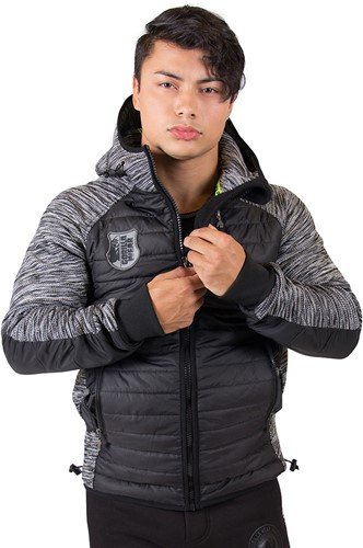 gorilla wear paxville jacket black gray model 2