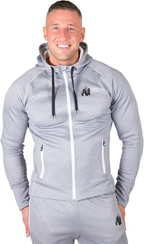 gorilla wear bridgeport zipped hoodie silverblue model 1