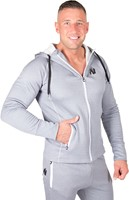gorilla wear bridgeport zipped hoodie silverblue model 2