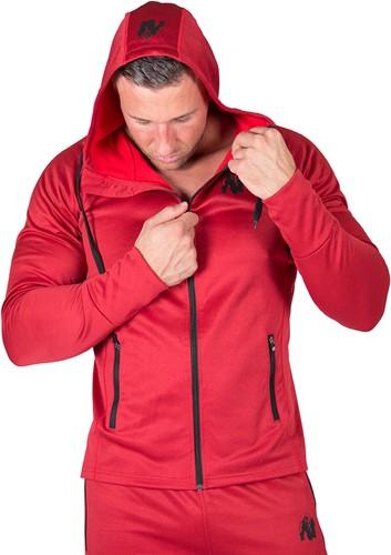 Gorilla Wear Bridgeport Zipped Hoodie - Rood